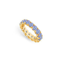 Tanzanite Eternity Band : 14K Yellow Gold - 3.00 CT TGW