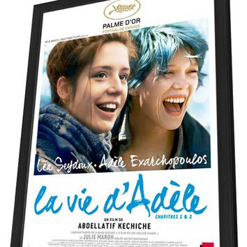 Blue is the Warmest Color (French) 27x40 Framed Movie Poster (2013)