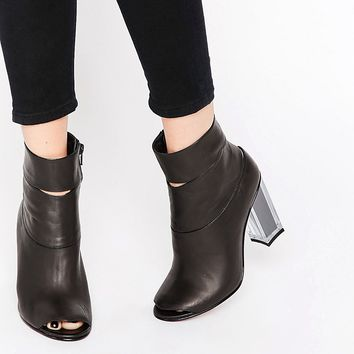 Miista Heeled Boot With Open Toe