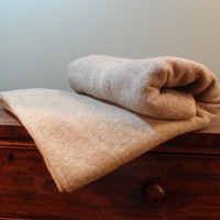 Vintage Pure Wool Blanket, Brown Camp Blanket by Condon's Prince Edward Island