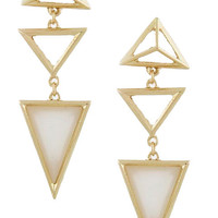 Triangle Droplet Earrings (Opal)
