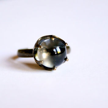 Mini Crystal Ball Ring by misanthropycreations on Etsy