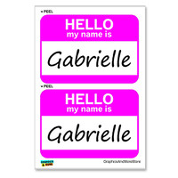 Gabrielle Hello My Name Is - Sheet of 2 Stickers
