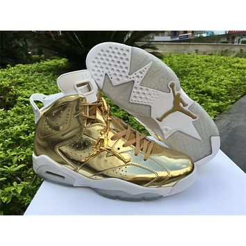 Air Jordan 6 Pinnacle Local tyrants gold Basketball Shoes 40-47