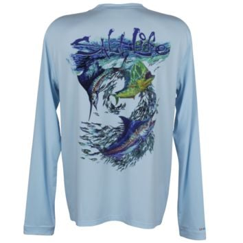 The Abyss SLX Uvapor Raglan Long Sleeve Pocket Tee - Tops - Mens
