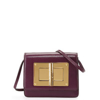 Tom Ford Natalia Turn-Lock Crossbody Bag, Purple