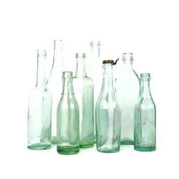 Antique Aqua Bottle Collection