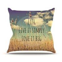 "Alison Coxon ""Life"" Throw Pillow"