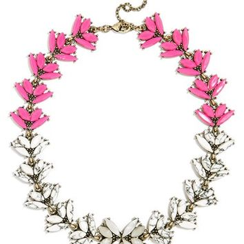 Women's BaubleBar 'Botanica' Crystal Collar Necklace - Pink/ Antique Gold