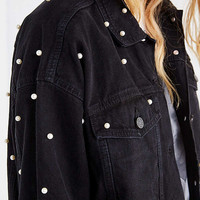 UO Pearl + Denim Trucker Jacket | Urban Outfitters