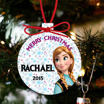 Personalized Frozen Christmas Ornament - Princess Anna