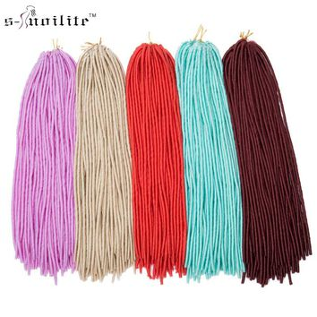 "SNOILITE 3pcs/lot 24"" Synthetic Braids Hair Extensions Dreadlock Crochet Dread Hairstyles For Black Women"