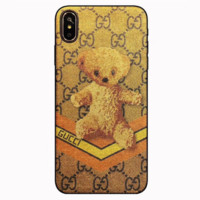 GUCCI 2019 New Year's Eve Soft Leather Shell Men and Women iPhone XS Max Mobile Shell 2