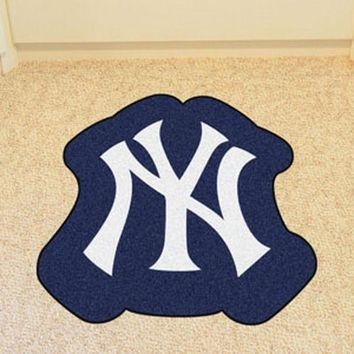 New York Yankees Mascot Mat Area Rug - Man Cave, Bar, Game Room