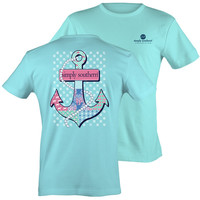 Simply Southern Collection Preppy Pearls Anchor Sea Life Bow T-Shirt