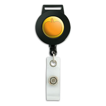 Pumpkin Halloween Thanksgiving Harvest Fall Retractable Badge Card ID Holder