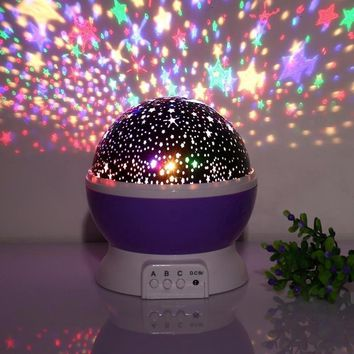 LED Night Lighting Lamp,Light Up Your Bedroom With This Moon, Star,Sky Romantic LED Nightlight Projector, Best Gift For Kid Teen