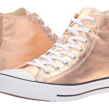 ONETOW converse chuck taylor all star metallic canvas hi metallic sunset glow white black