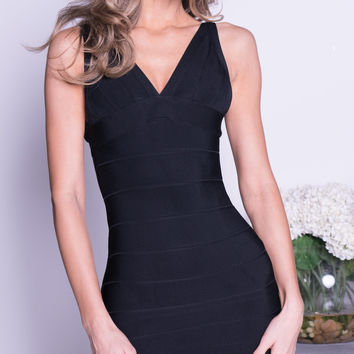 CANDICE BANDAGE DRESS IN BLACK - 2 COLORS