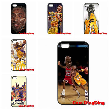 For Moto X1 X2 G1 E1 Razr D1 Razr D3 iPhone 4 4S 5 5C SE 6 6S Plus Apple iPod Touch 4 5 6 Kobe Bryant Animation Case Cover