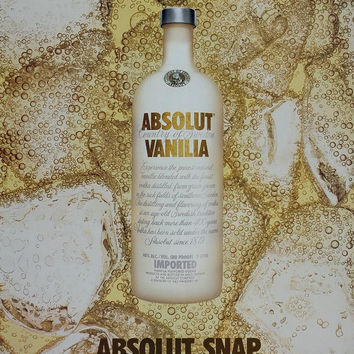 2004 Ad Absolut Snap Vanilla Vodka Ice Ginger Ale NICE - ORIGINAL ABS2