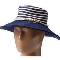 Sperry Top-Sider Stripe Floppy Hat w/ Canvas Brim Bright Navy Blue - 6pm.com