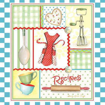 Retro Aprons Recipe Binder