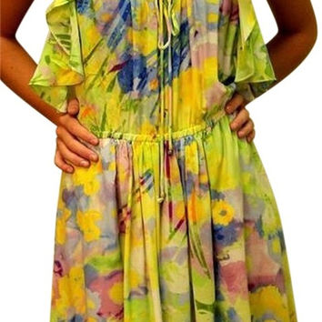 Plenty By Tracy Reese Rare Racerback! New $325 Retro 30s Flutter Silk Dress