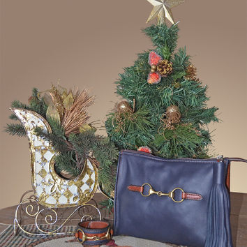 Soft Leather Holiday Clutch with FREE Matching Two Tone Cuff