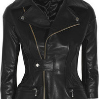Junya Watanabe|Sculpted leather biker jacket|NET-A-PORTER.COM