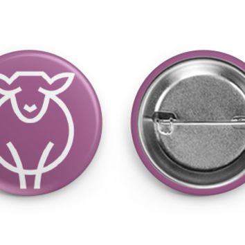 Paradise Fibers Sheep Button Pin