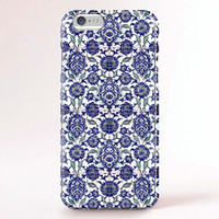 iPhone 6 Case, iPhone 6 Plus Case, iPhone 5S Case, iPhone 6, iPhone 5C Case, iPhone 4S Case, iPhone 4 Case - Blue Bohemian pattern