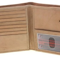 Paul & Taylor Genuine Leather Men's Hipster Wallet Quick Access Card Slot Tan