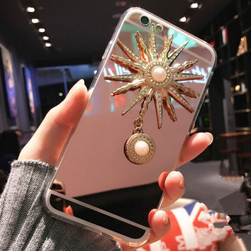 Fashion Makeup Mirror Case for iPhone 5s 5se 6 6s Plus Gift 330