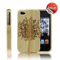Best Handmade Carved Bamboo iPhone 4/4s Cases- A Big Tree by Julyjoy