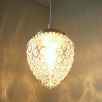 Raspberry Shaped Textured Hanging Pendant Lighting by BootsNGus