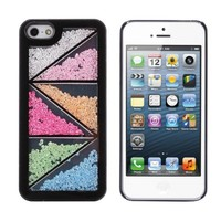 Pandamimi ULAK Sweety Girls Colorful Eye Shadow Pattern Case Cover Skin Decorated Cute Shining Princess Style for iPhone 5 5G + Stylus + Screen Protector