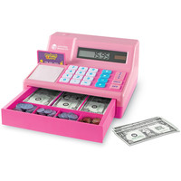 Learning Resources Pretend and Play Calculator Cash Register, Pink