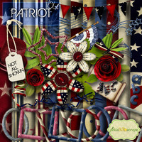 Patriot Vol 1 - Digital Scrapbook Kit and FREE QuickPage