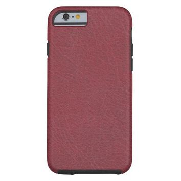 Bordeaux Red Leather Texture