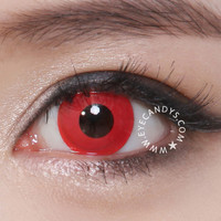 GEO Blood Red CP-F3 Crazy Contact Lens for Halloween - EYECANDYS.COM