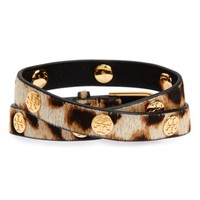 Tory Burch Genuine Calf Hair Wrap Bracelet | Nordstrom
