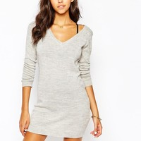 JDY | J.D.Y V Neck Sweater Dress at ASOS