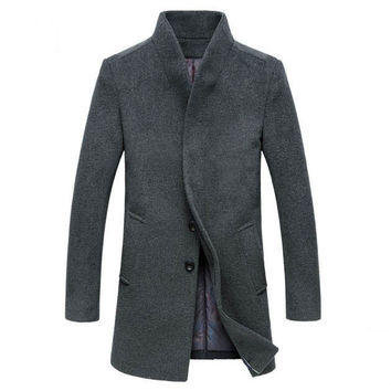The Thompson Wool Topcoat Gray