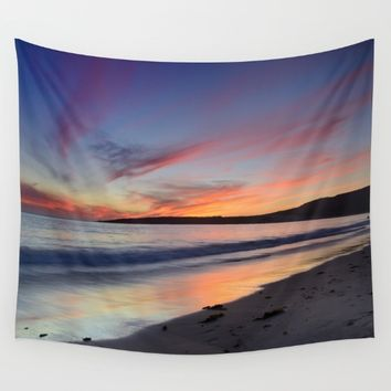 """Bolonia beach at sunset"" Wall Tapestry by Guido Montañés"