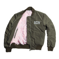 MA1 BOMBER JACKET XCIV LOGO GREEN | GCDS - In goal we trust