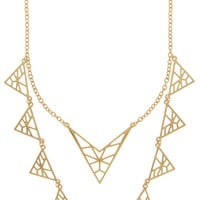 Divergent Triangle Layering Necklace
