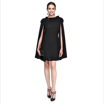 Black Short Dresses for Formal party Chiffon Cocktail Dresses With Long Chiffon Dresses Celebrity Dresses elegant evening gowns
