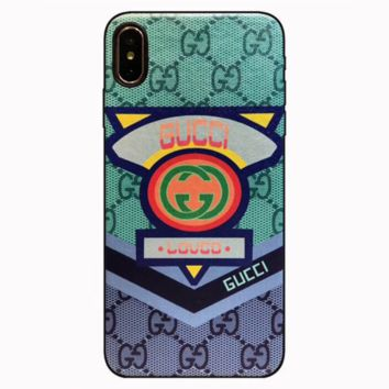 GUCCI 2019 new men and women models wild soft shell iPhone7/8 mobile phone case cover 7