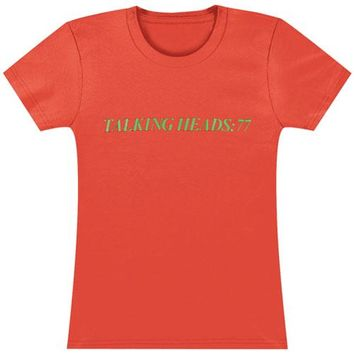Talking Heads  '77 - Ladies Junior Top Salmon
